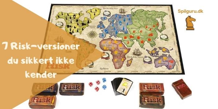 7 forskellige risk versioner brætspil