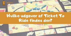 Ticket to ride udgaver