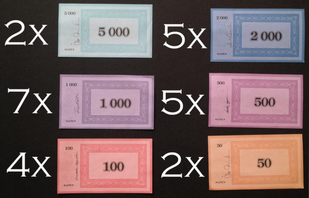 Hvor mange penge skal man have i matador?