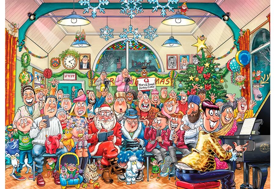 wasgij julepuslespil med 1000 brikker