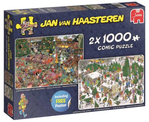 Jan Van Hassteren pakke med to puslespil til voksne